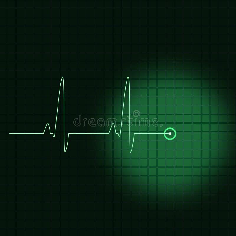 Download Green ECG stock illustration. Image of life, examination - 2325624