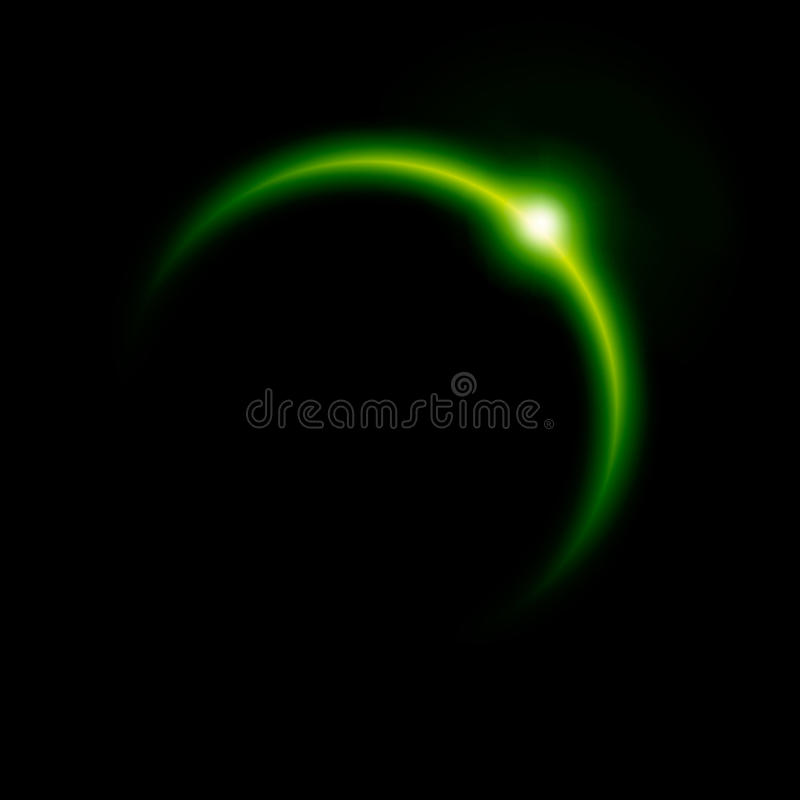 Free Green Eclipse Royalty Free Stock Image - 14253406