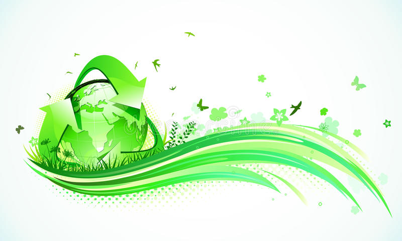 Green Eco Background Stock Photography