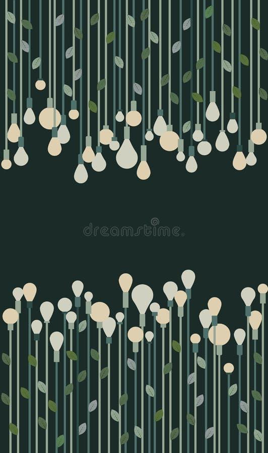 Green Eco Bulbs Illustration Stock Photo