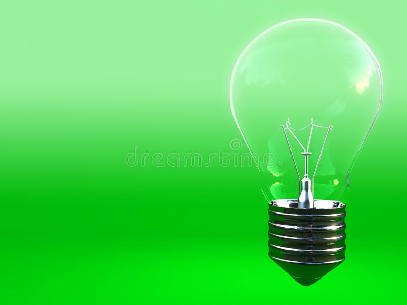 Download Green Eco Classic Light Bulb With Space For Write Stock Illustration - Image: 11260139