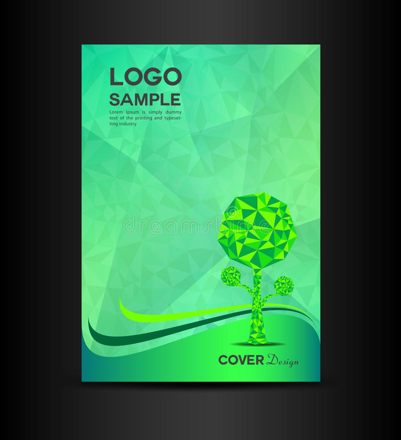 Modern Book Cover Posters ~ Green eco cover design vector illustration book