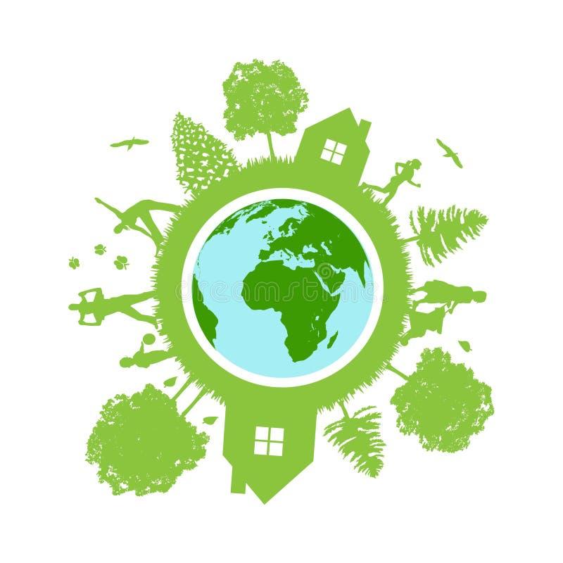 Eco Earth icon royalty free illustration