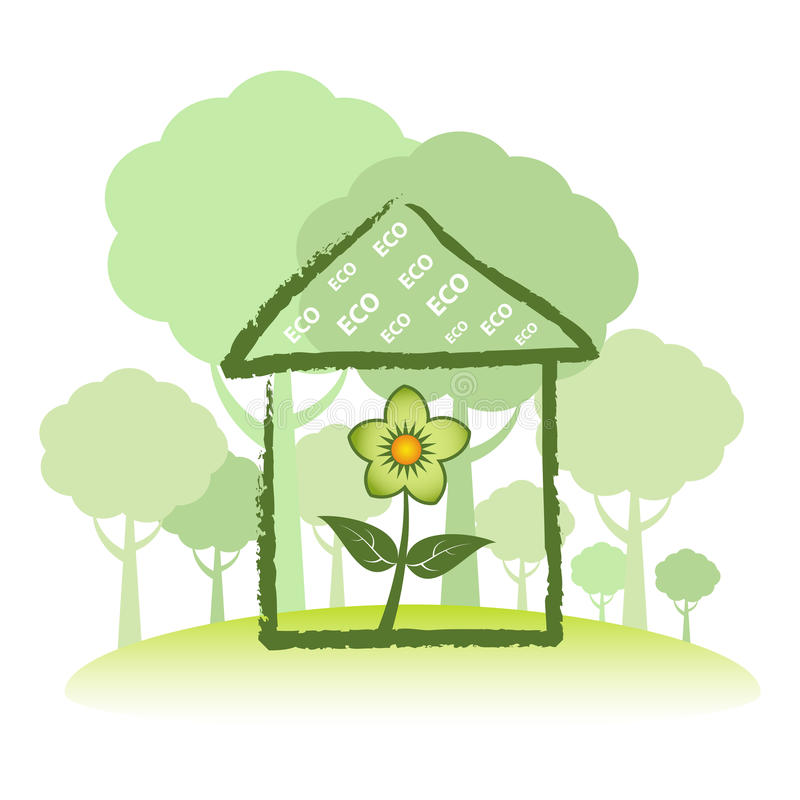 Green Eco Home Stock Photo