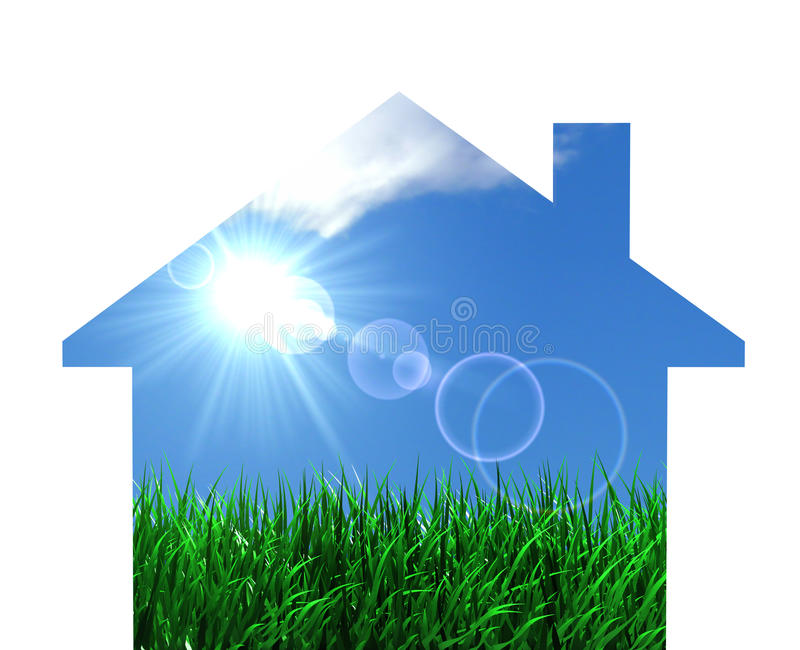 Green Eco House Concept Royalty Free Stock Photo