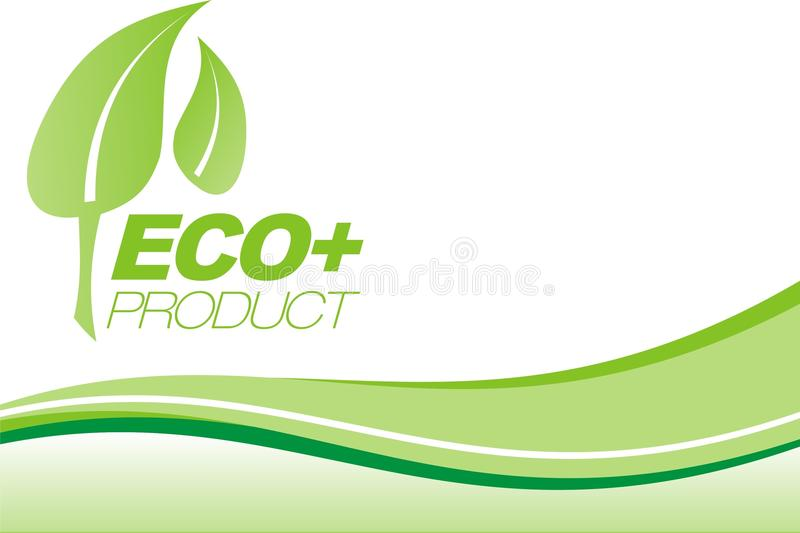 Green Eco+ leaflet royalty free stock images