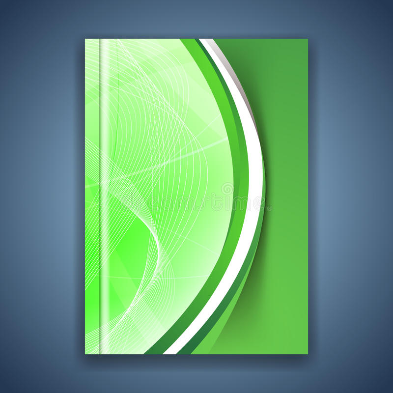 Green eco swoosh line futuristic brochure. Vector illustration royalty free illustration