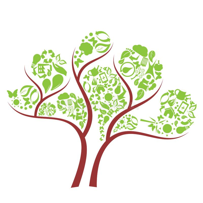 Green eco tree stock images