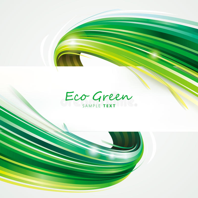 Green Eco Wave royalty free stock photography