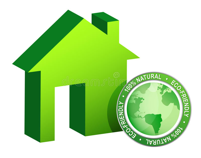 Green Ecological House - Modern Housing Royalty Free Stock Photo