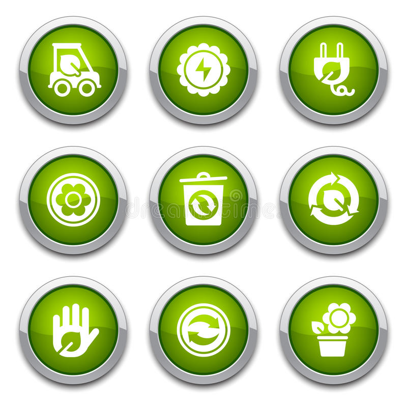 Download Green ecology buttons stock vector. Image of environmental - 24352792