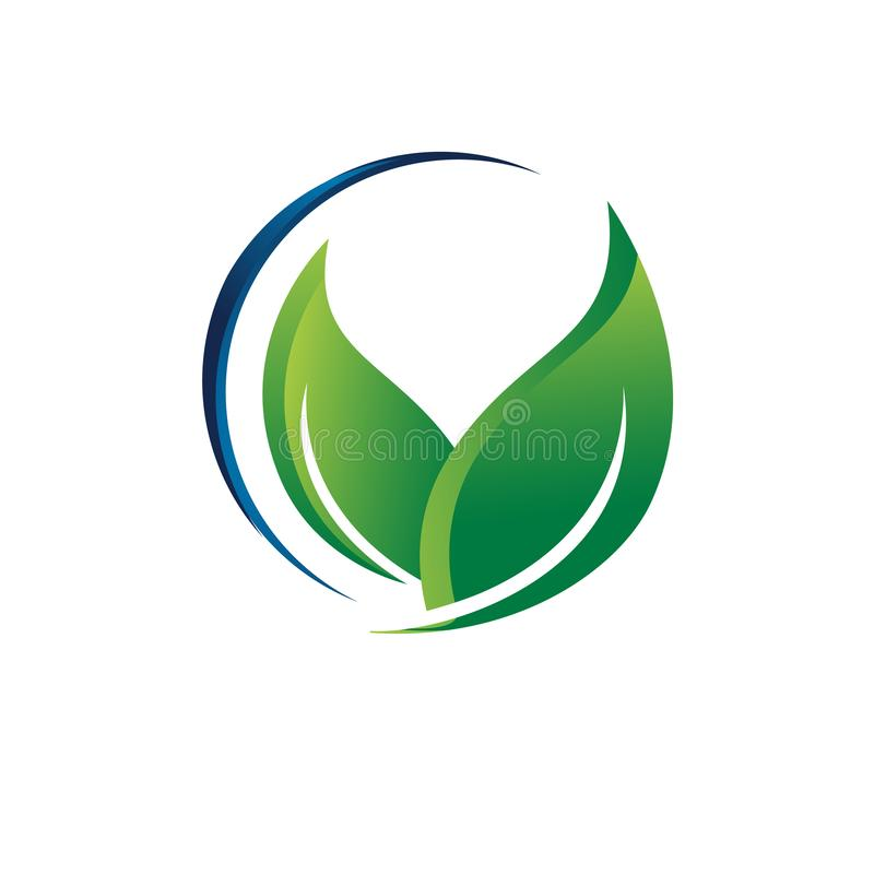 green ecology eco friendly logo vector recycle sign concept graphic template royalty free illustration