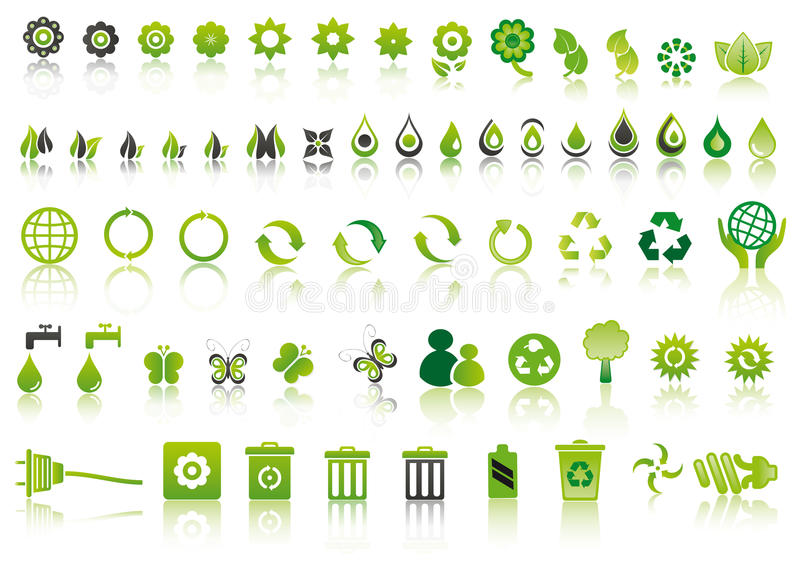 Download Green Ecology Icons Royalty Free Stock Photo - Image: 20419565