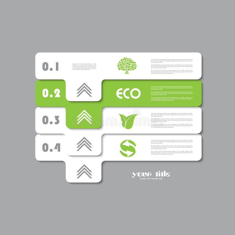 Green ecology infographic stock illustration