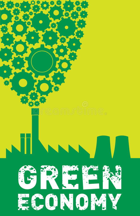 Green Economy royalty free illustration