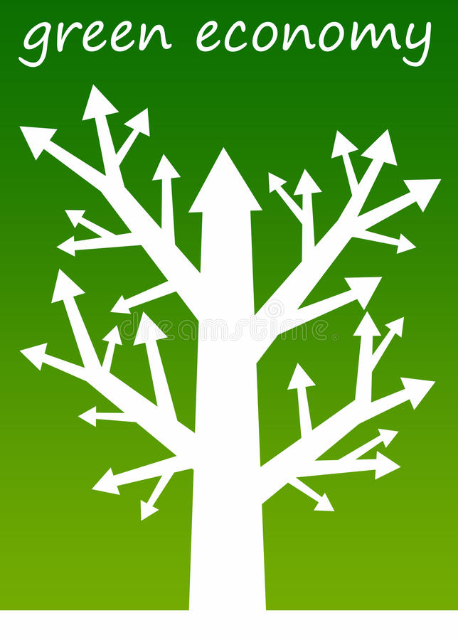 Green economy. Having a green and sustainable economy royalty free illustration