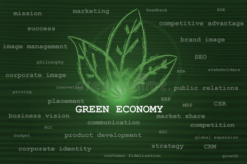 Download Green Economy Taking Over Other Business Concepts Stock Illustration - Illustration of conceptual, leaf: 35155780
