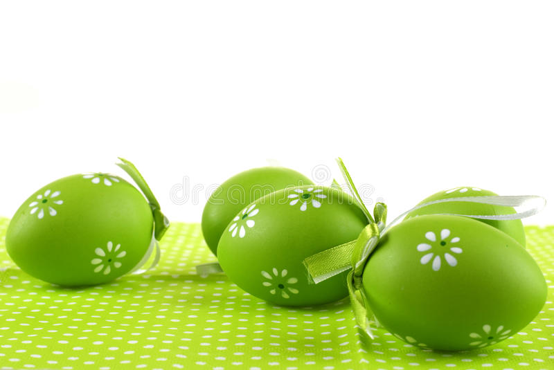 Green eggs. stock images