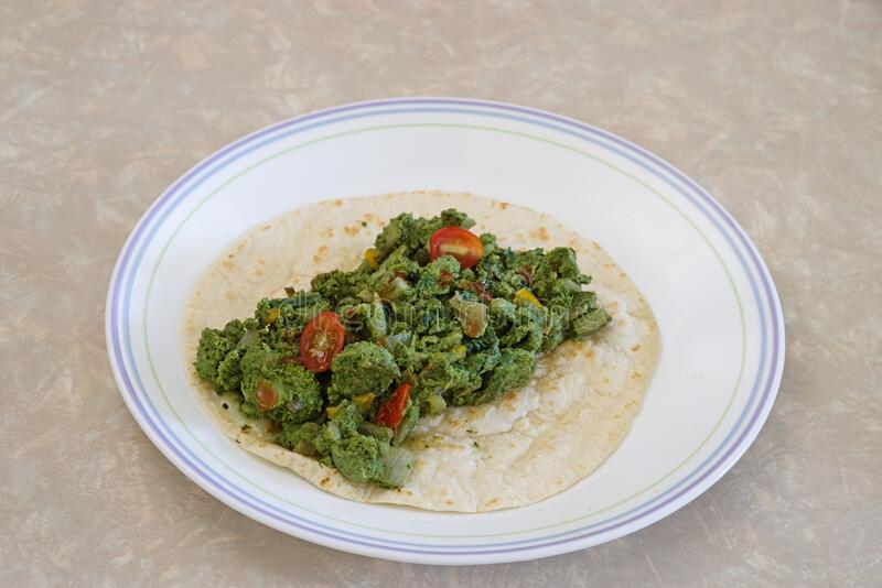 Green Eggs On A Tortilla royalty free stock photo