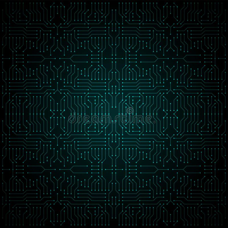 Green electric circuit, illustration royalty free illustration