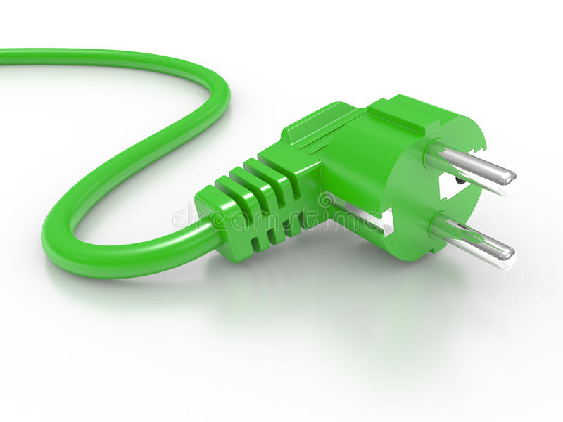 Download Green Electric Plug Stock Photo - Image: 16429900