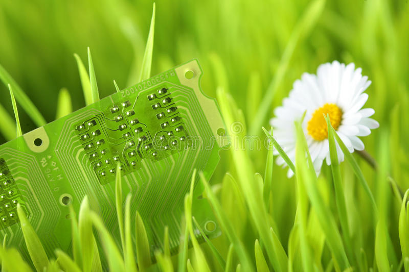 Green electric technology stock photography