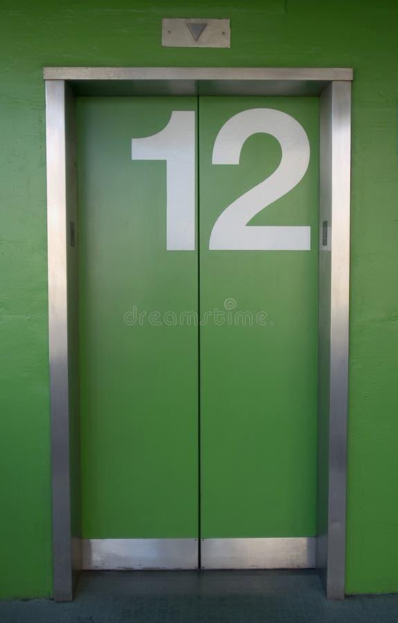 Green Elevator stock image