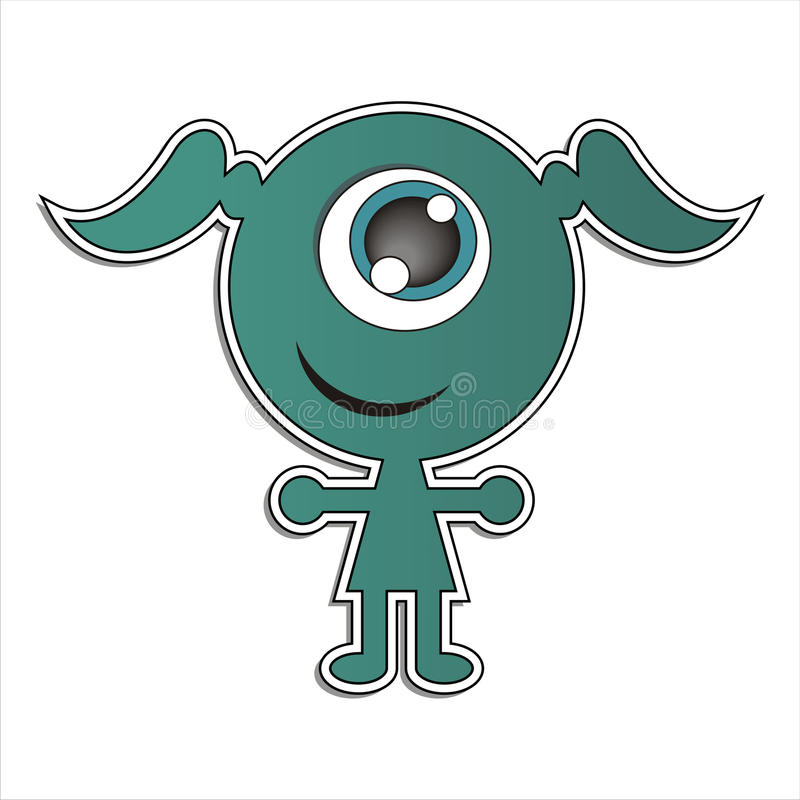 Download Green elf stock illustration. Image of plain, girl, mascot - 22996636