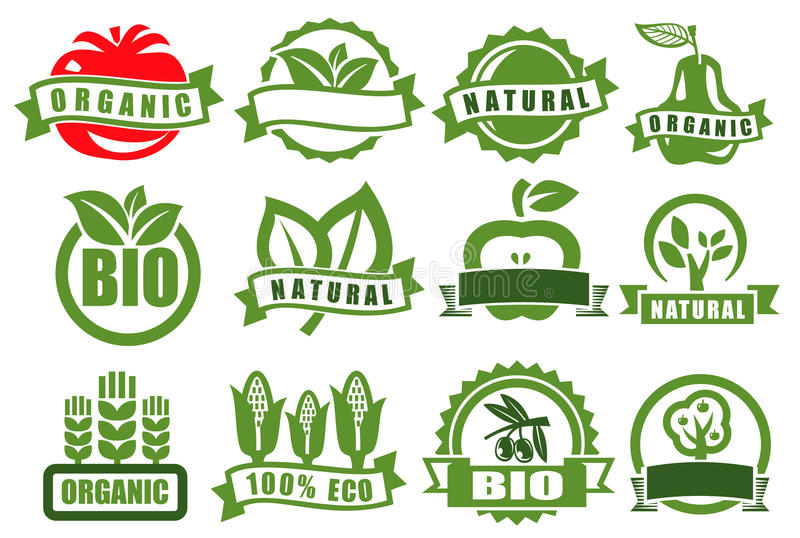 Download Green emblems of eco stock vector. Image of green, ecology - 30504770