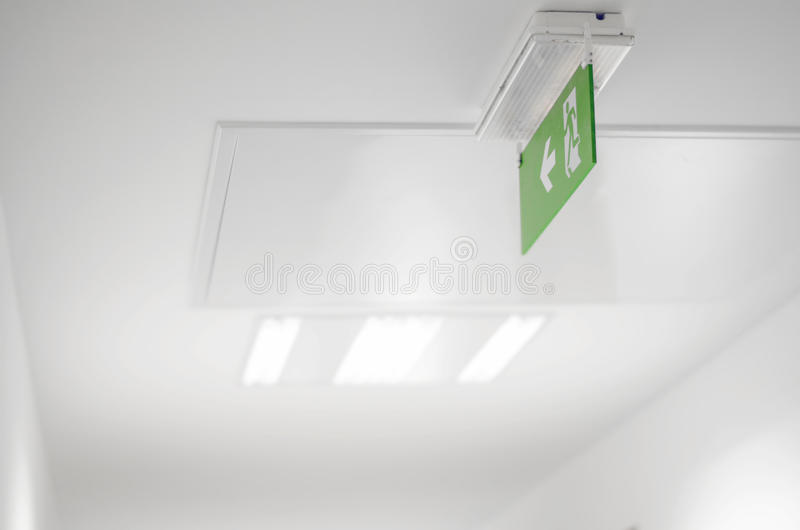 Green Emergency Exit Sign stock photos