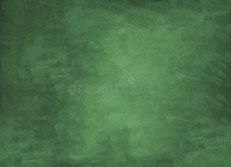 Green empty chalkboard background school stock photo
