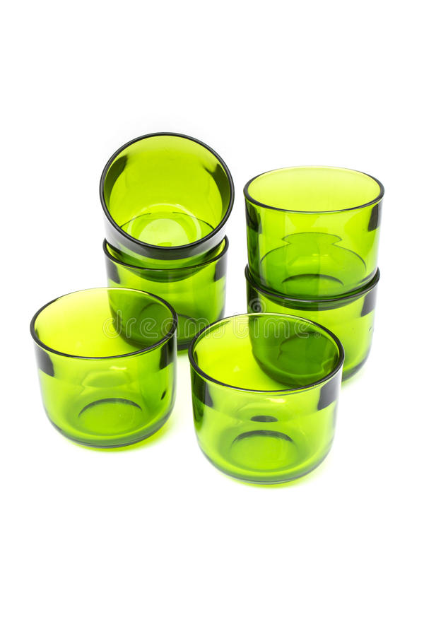 Green empty glass stock photography
