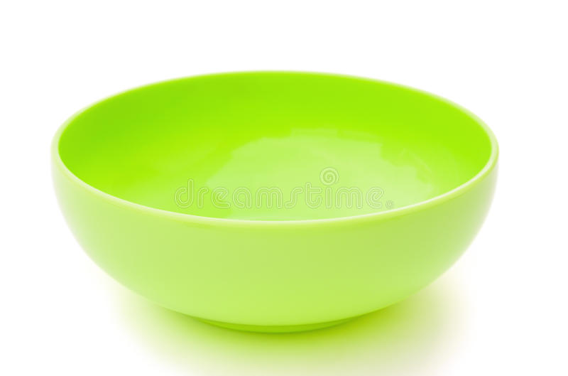 Green empty plastic bowl royalty free stock photos