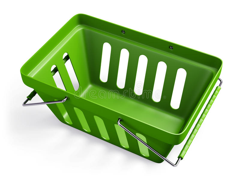 Download Green empty shop basket 2 stock illustration. Illustration of chrome - 33363506