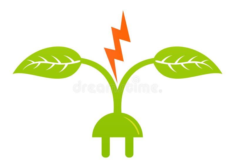Green energy. Illustration of green energy design isolated on white background royalty free illustration