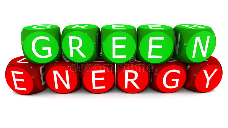 Green energy royalty free illustration
