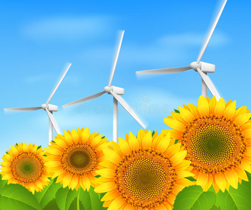 Green energy background stock illustration