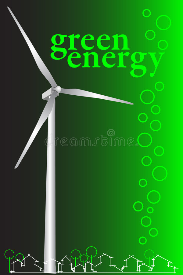Green energy brochure cover or business card stock vector download green energy brochure cover or business card stock vector illustration of conservation reheart Image collections
