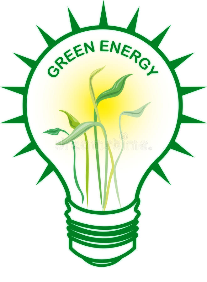 Download Green Energy Bulb stock illustration. Illustration of consumption - 11418705