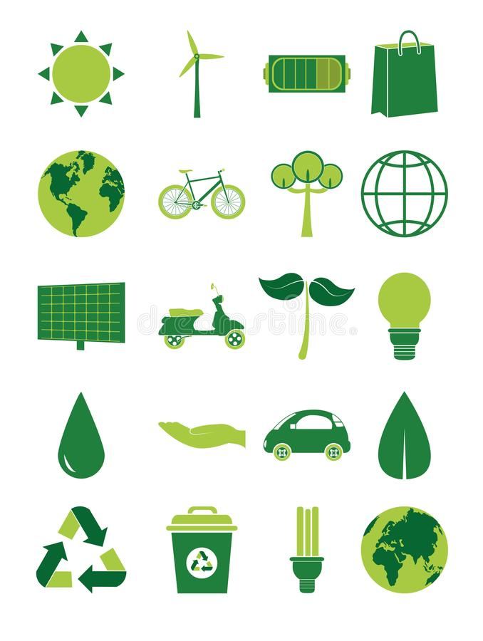 Green energy collection vector illustration
