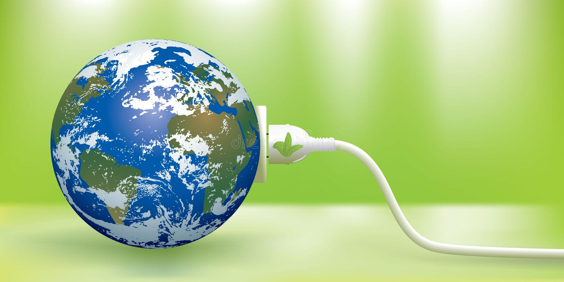 Green energy concept stock image