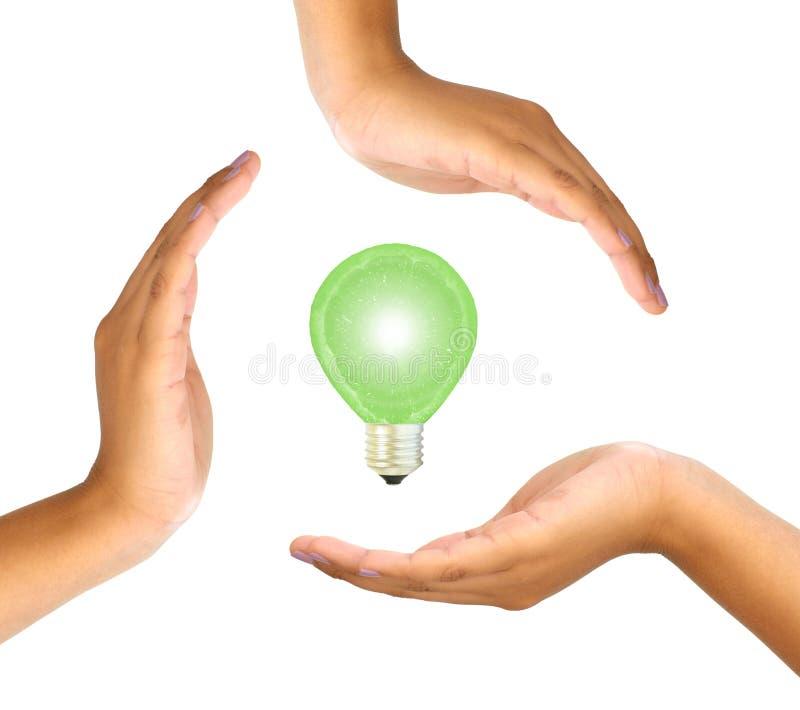 Green energy concept stock photos