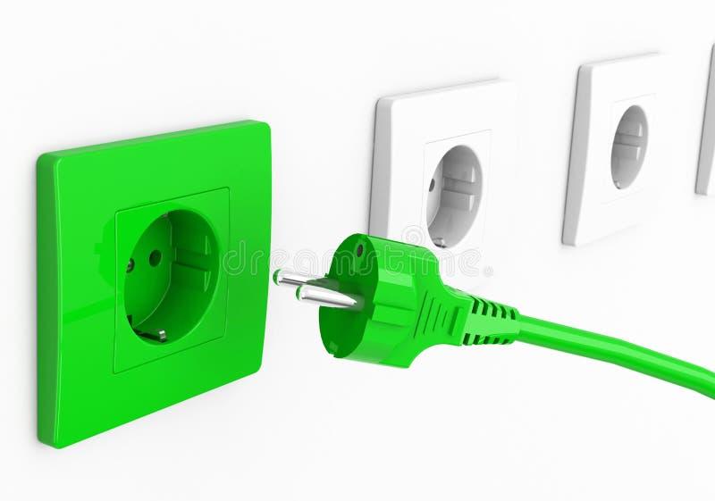 Download Green energy stock illustration. Illustration of socket - 39713738
