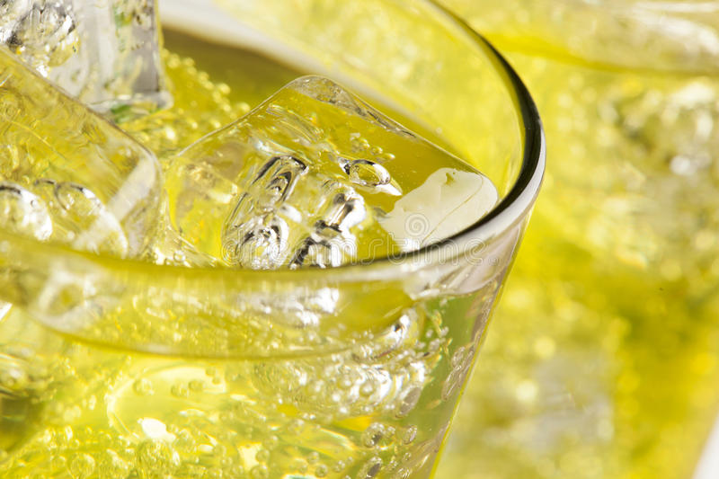 Green Energy Drink Soda stock images