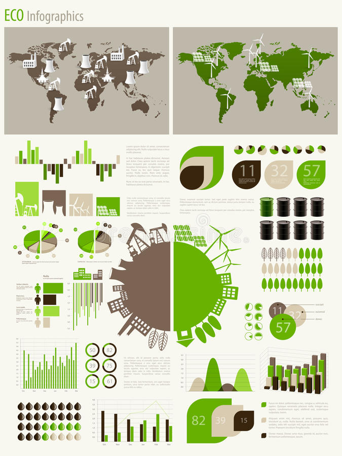 Download Green Energy And Ecology Infographic Stock Vector - Illustration: 26015033