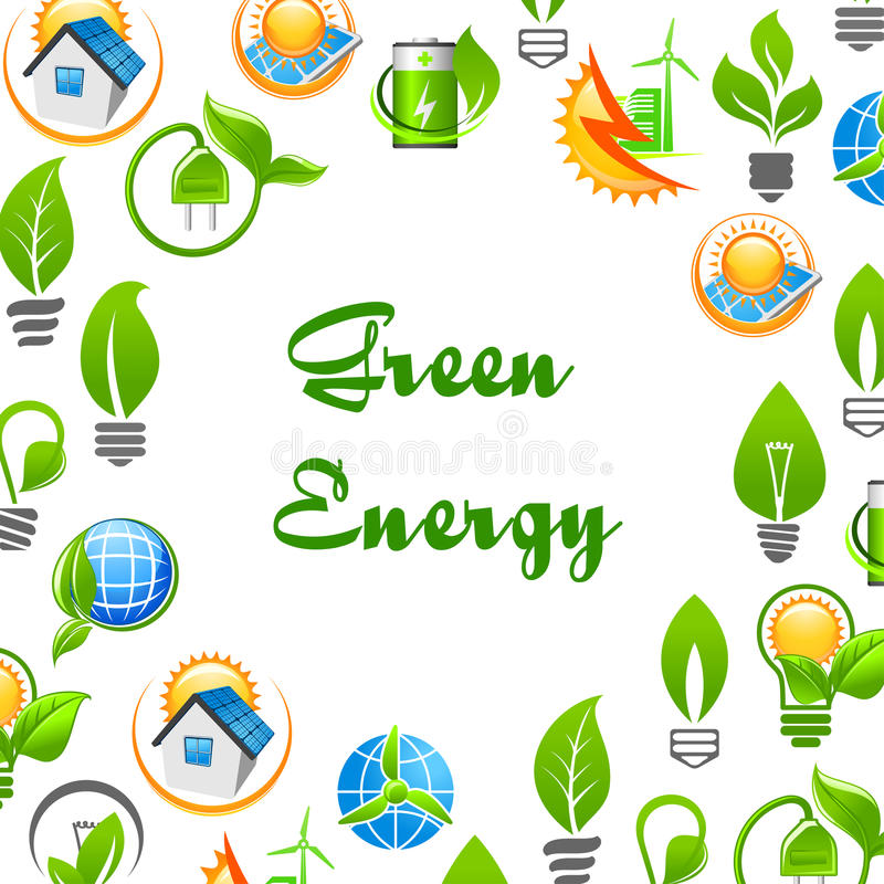 Download Green Energy Environment Protection Poster Stock Vector    Illustration Of Flat, Lamp: 80166276
