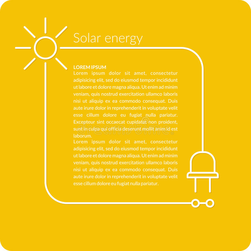 illustration Solar energy royalty free illustration