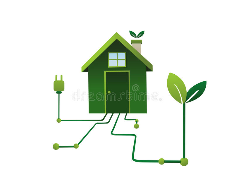 Download Green Energy In The Home Vector Stock Vector - Image: 42752121