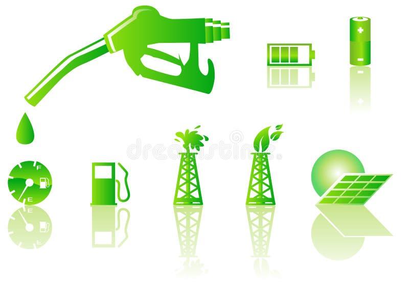 Green energy icons vector illustration