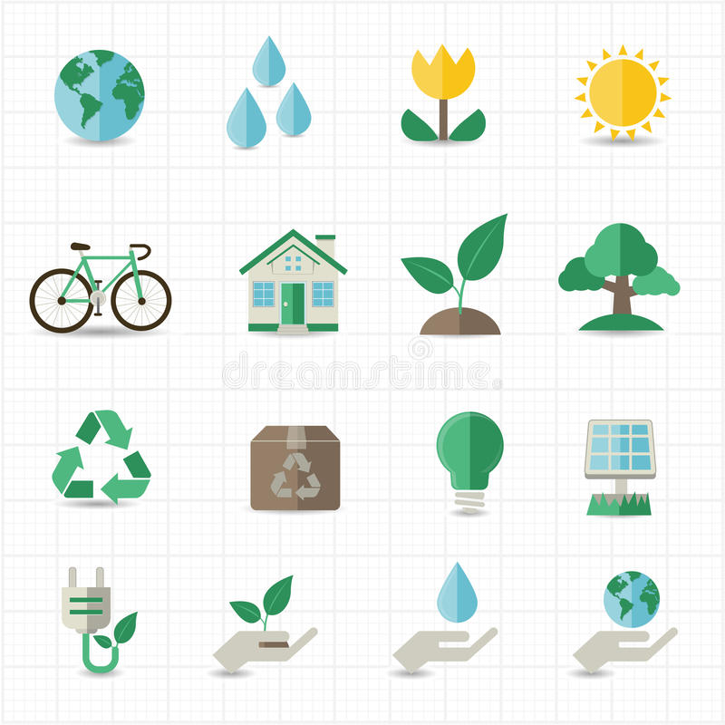 Download Green energy icons stock vector. Illustration of green - 38993358